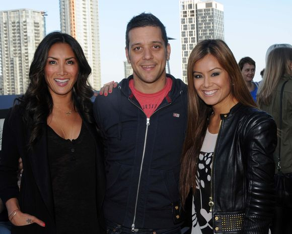 Tanya Kim CTV ETalk Anchor, George Stroumboulopoulos CBC host and Melissa Grelo Co -Host CP 24 Breakfast  celebrate the Thompson Hotel Toronto Rooftop opening cocktail party .