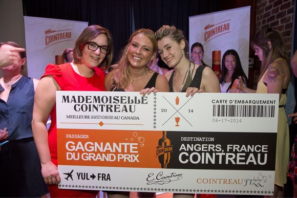 The last stop of the Mademoiselle Cointreau cocktail competition was taking place at L'Assommoir in Montreal