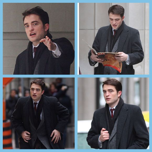 Robert Pattinson on the set of LIFE in Toronto today.