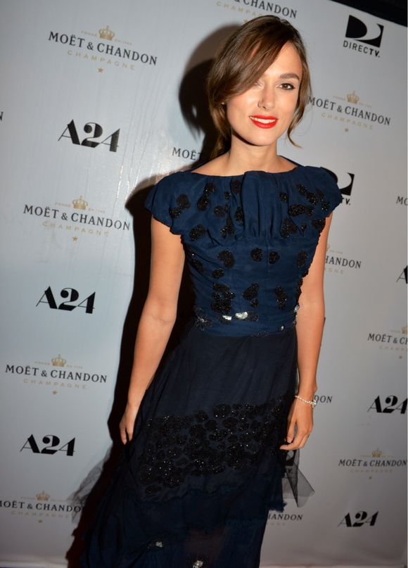 """Actress, Keira Knightly arrives at the Moët & Chandon reception for """"Laggies,"""" an international premiere at TIFF.   The reception took place at Michaels on Simcoe in Toronto."""""""